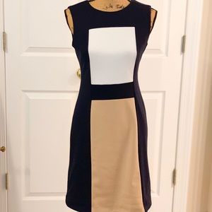 Calvin Klein designer color block dress